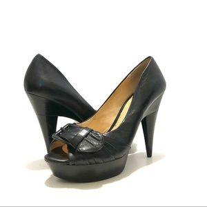 Gianni Bini Black Platform Heels Size 8 EUC